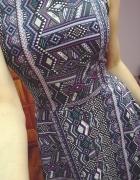 NOWA Z METKĄ Sukienka w azteckie wzory H&M
