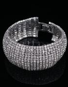 Wspaniała szeroka srebrna bransoletka