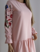 sukienka italia włoska falbanka kwiaty folk