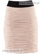 Nowa spódnica H&M falbany marszczenia pudrowy róż