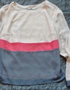 Pudrowa szyfonowa bluzka XS