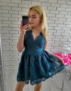 Rozkloszowana sukienka emo nowa z metka