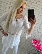 Biała bluzka boho