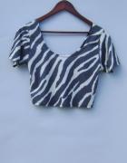 bluzeczka top krótka zeberka S M