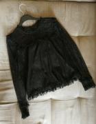 bluzka koronka czarna Reserved koszula