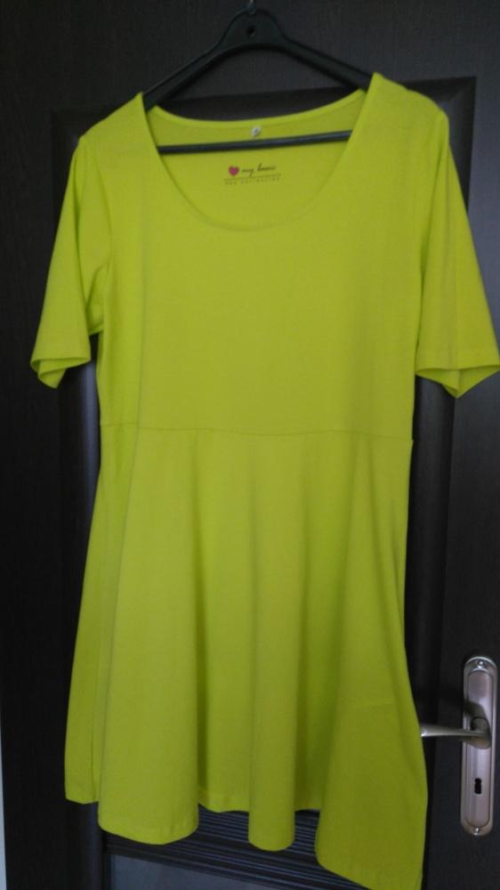 Neonowa sukienka bawełniana 44 46