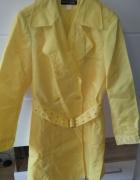 Energetyczny żółty płaszcz trend 44 46