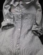 Siwa szara koszula w paski r S nowa kieszonka