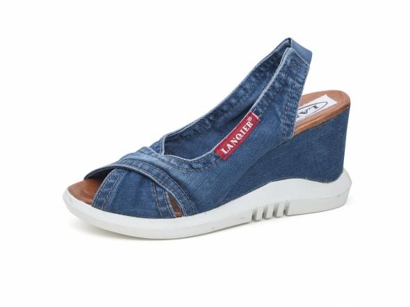 Sandały jeansowe damskie Lanqier 42C263...
