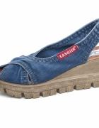 Sandały jeansowe damskie Lanqier 42C260...