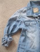koszula tunika jeans NEXT 134 przecierana skinny...