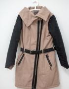 Bardzo ciepły płaszcz wełna XL