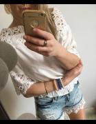 Biała Bluzka Damska gipura elegancka M