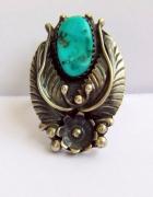 Navajo pierścień z turkusem srebro 925