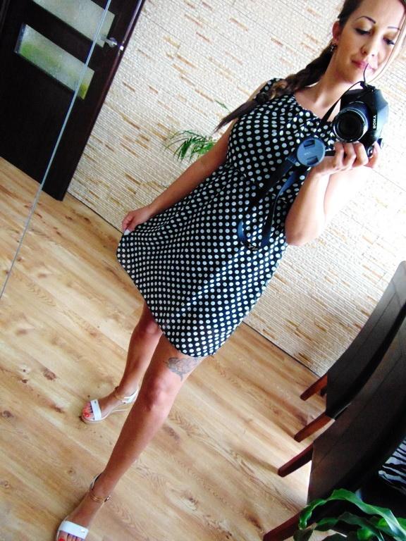 Codzienne Sukienka w grochy
