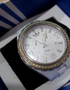 Biały zegarek Adidas ADH2515 z kryształkami Swarovski