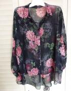 koszula oversize kwiaty...