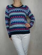Ciepły gruby sweter wzór norweski Brave Soul