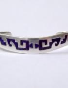 Bransoleta srebro 925 lapis lazuli inkrustowana