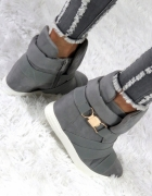 SNEAKERSY Koturn KLAMRA grey trampki