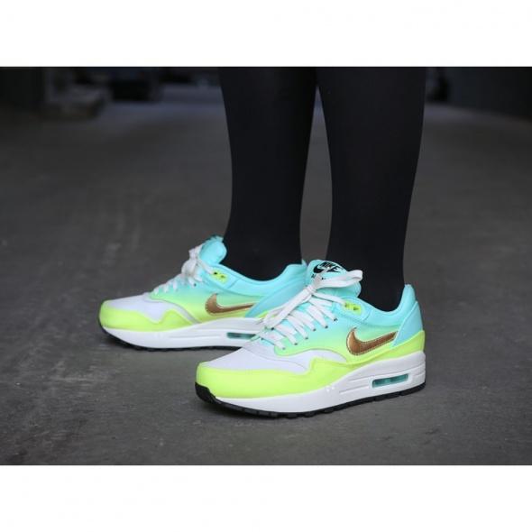 Buty damskie Nike Air Max 1 Premium NOWE neonowe w Sportowe