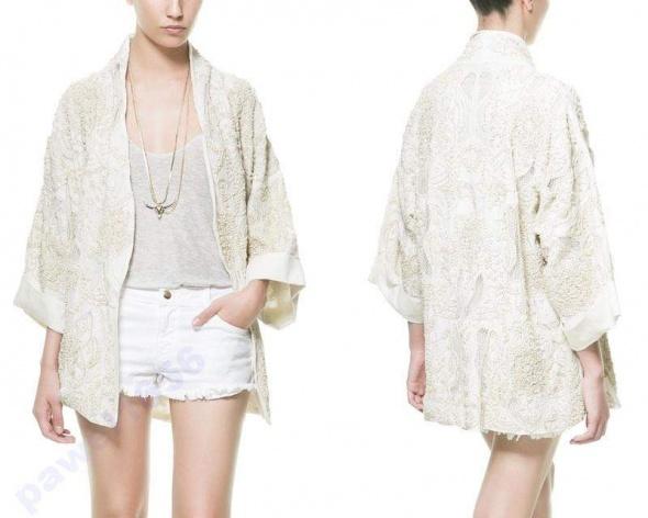 Wyszywane Kimono narzuta blazer Zara...