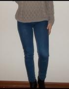 rurki jeans Pull&bear spodnie wysoki stan hm zara