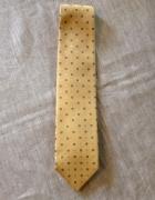 Gilberto krawat jedwabny żółty wzór kwadraty...