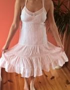 biała sukienka bawełniana rozmiar 42