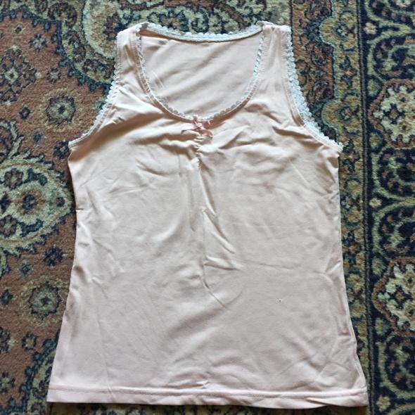 Bluzki rozowa koszulka z mala kokardka