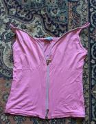 sexy rozowa bluzeczka na zamek na ramiaczkach...
