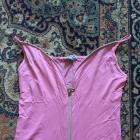 sexy rozowa bluzeczka na zamek na ramiaczkach