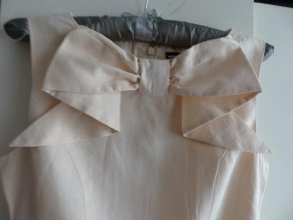 sukienka lniana warehouse 34 róż lososiowa...