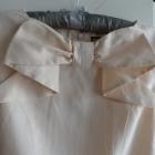 sukienka lniana warehouse 34 róż lososiowa