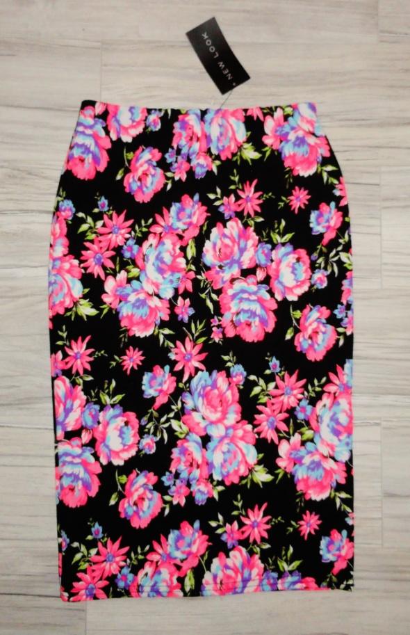 99382933 Nowa midi ołówkowa spódnica neonowe kwiaty New Look s w Spódnice ...