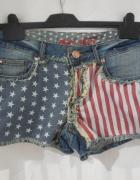 Denim CO szorty spodenki jeans flaga usa 38
