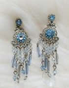 Kolczyki wiszące błękit piękne