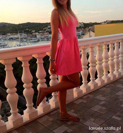 Neonowa H&M różowa M L