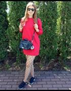 Czerwona sukienko bluza