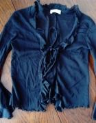 czarny top narzutka bluzka Pimkie z rozszerzanymi rękawami...