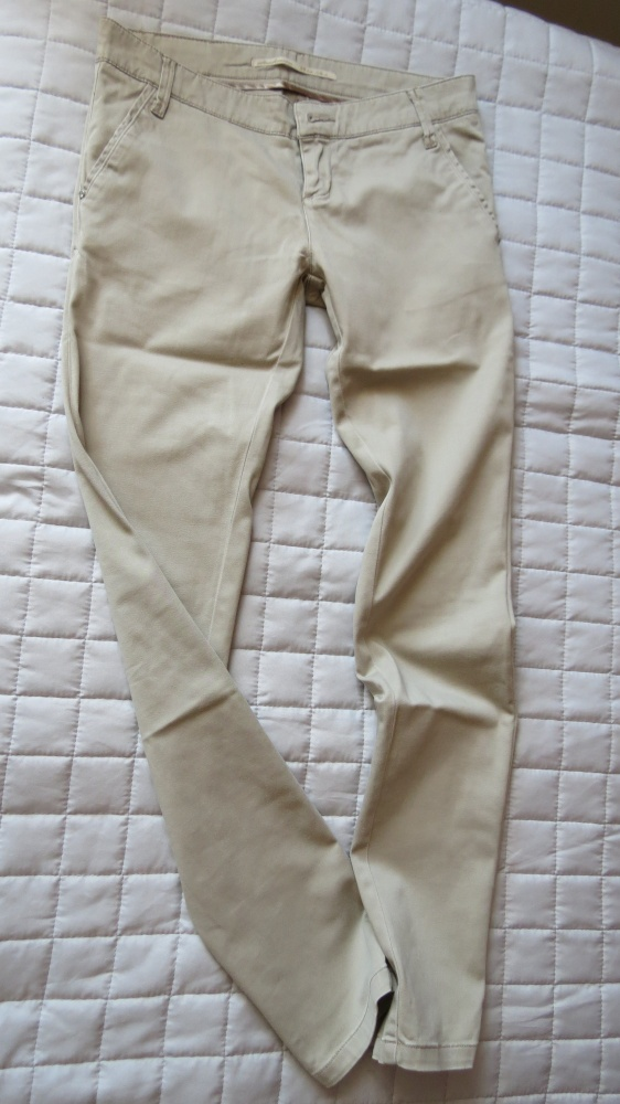 Spodnie beżowe spodnie