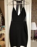 Czarna sukienka koronka XS 34...