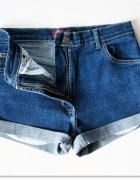 Szorty Wysoki Stan 36 S 38 M Blogerskie jeansowe spodenki levis