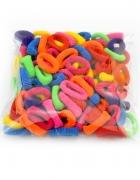 Kolorowe frotki gumki do włosów 100 sztuk HIT 2 wzory do wyboru