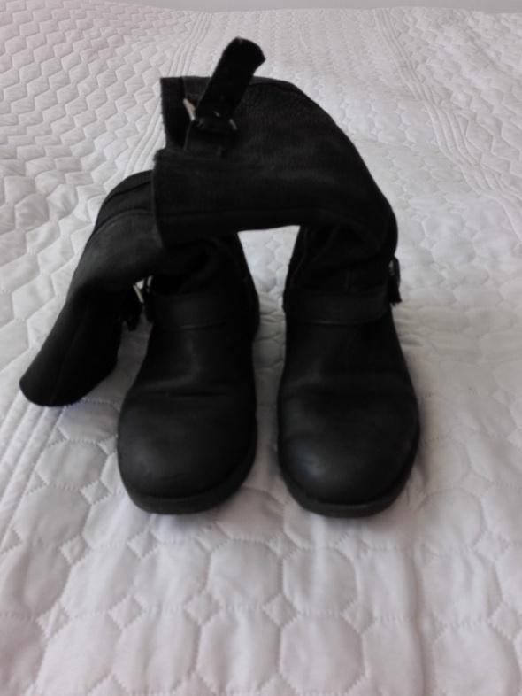 Czarne kozaki 36 Zara skórzane wysyłka kurier gratis w