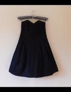 Monsoon sukienka czarna gorsetowa 36 38