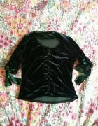 Welurowa vintage bluzka roz S