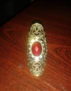 pierścionek orientalny stare złoto