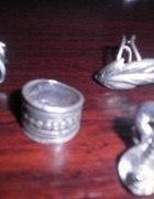 komplet pierścionków stylowy