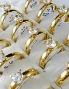 śliczne pierścionki złote srebrne dużo rozmiarów
